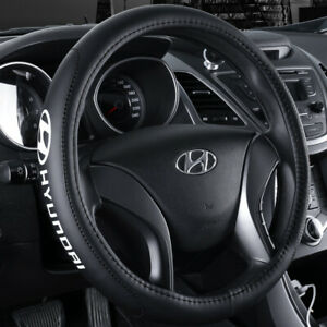 15 Car Steering Wheel Cover Genuine Leather For Hyundai