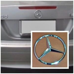 Fit For Mercedes Benz Chrome Star Trunk Emblem Badge 75mm Autopart Free Shipping