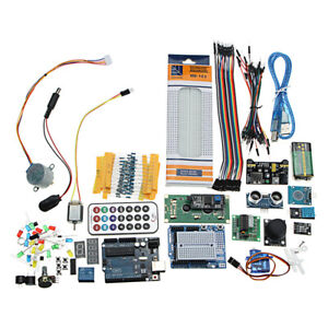 Super Project Uno R3 Starter Kit With Relay Jumper Breadboard Led Sg90 Servo For