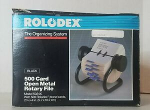 Rolodex 5024x Rotary File Organizing System 500 Card Open W Rolomatic Control