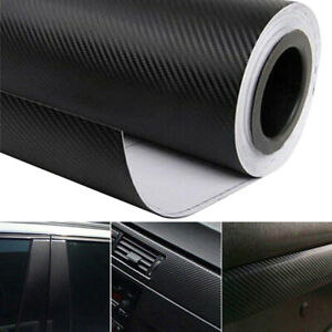 3d Carbon Fiber Car Vinyl Foil Film Wrap Roll Sticker Decal Interior Accessories