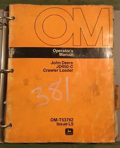 John Deere Jd450c Crawler Bulldozer Operator Parts Manual Omt t53762 Pc 1420