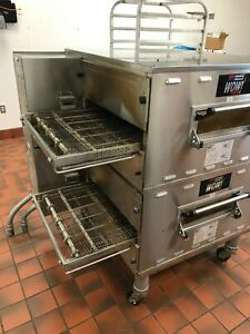 Middleby Marshall Wow Ps636e Double Stack Electric Conveyor Pizza Oven