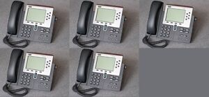 Lot Of 5 Cisco Cp 7960g Ip Phone 7960 Voip Business Phone