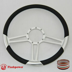 15 5 Billet Steering Wheel Black Full Wrap Firebird Gto
