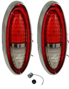 Pair Led Tail Light Assemblies For 1954 Chevrolet Cars complete Led Flasher
