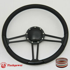 15 5 Billet Steering Wheel Full Wrap Black Firebird Gto