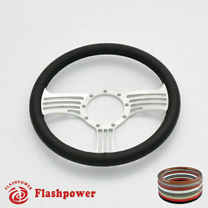 15 5 Billet Steering Wheel Black Full Wrap Replacement Gto Gmc