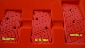 Authentic Momo Pedal Kit Dna Basic Red 3 Pieces New