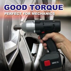 Industrial Cordless Impact Wrench Gun 1 2 18v Li Ion 4ah Power Tool With Led