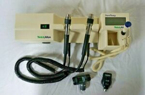 Welch Allyn 767 Otoscope ophthalmoscope Diagnostic Set w Thermometer Module