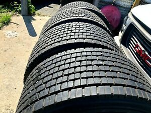 Set Of 4 Tires 445 50r22 5 Continental Retread Super Single 445 50 R 22 5