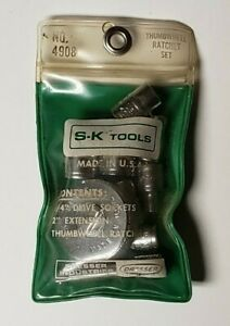 Sk Tools Thumbwheel Ratchet Set No 4908 9 Piece Set