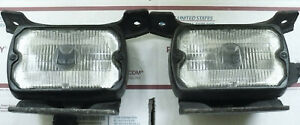 Marchal 750 Fog Lights With Covers And Brackets For Lincoln Ford Jeep Etc