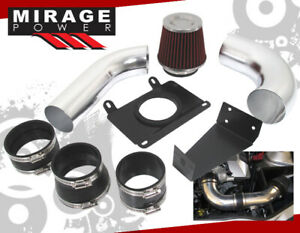 For 89 93 Ford Mustang V8 5 0 Polish Cold Air Intake System Induction Red Filter