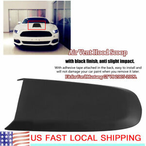 Car Hood Scoop Plastic With Screw Fittings For Ford Mustang 2005 2009 Gt V8