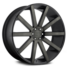 24 Dub S121 Shot Calla Matte Black With Machined Face 6x139 7 Set Of 4