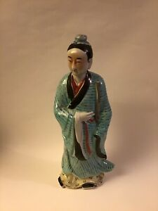 Large Antique Chinese Porcelain Famille Jiangxi Figurine