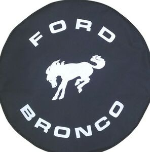 Sparecover Brawny Series Ford Bronco 30 Black Denim Vinyl Tire Cover