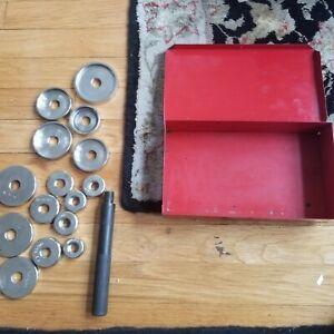 Snap On Bearing Seal Bushing Driver Set 16 Piece Set W Metal Box