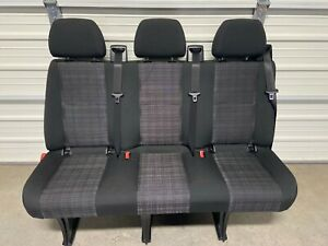 2007 2018 Mercedes Dodge Sprinter 3 Passenger Van Seat Black Cloth