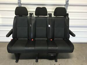 2007 2018 Mercedes Dodge Sprinter 3 Passenger Van Seat Black Leatherette