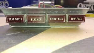 1966 Ford Thunderbird Landau Roof Console Warning Lights