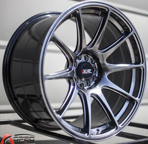 One 18x8 75 Xxr 527 5x100 114 3 35 Chromium Black Wheel