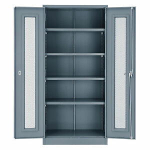 Unassembled Storage Cabinet With Expanded Metal Door 36x18x78 Gray Lot Of 1