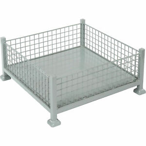 Relius Solutions Mini bulk Containers 10 Cu Ft Wire Mesh Sides Gray