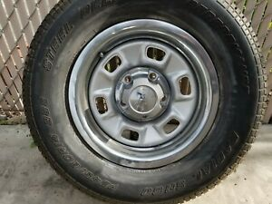 Chevelle 14x6 Rally Wheels Rings Hubs Set Of 4 Classic Chevrolet Oem Rally