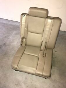 07 14 Cadillac Escalade Yukon Denali Right Side Tan Beige Leather 3rd Row Seat