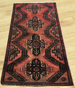 Semi Antique Hand Knotted Afghan Tribal Herati Balouch Wool Area Rug 3 X 5 Ft