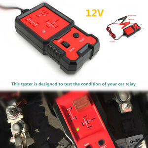12v Electric Car Relay Tester Battery Diagnostic Tool Pin Relay Detector System