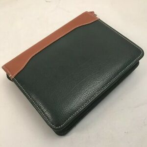 Franklin Covey Planner Binder Classic Black Tan Leather