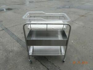 Infant Bassinet Stainless Steel With Plastic Top And Pad Pickup Only