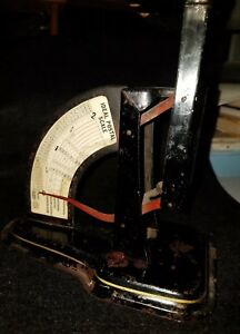 Antique Postage Scale Ideal With Spring Loading Mechanism Works Vintage