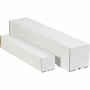 3 x3 x48 White Square Mailing Tubes Lot Of 25