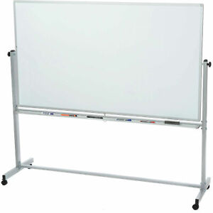 Magnetic Dry Erase Whiteboard Rolling Double Sided Reversible 48 X 36