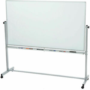 Magnetic Dry Erase Whiteboard Rolling Double Sided Reversible 48 X 36 Lot