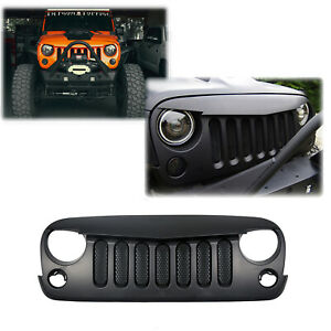 Front Angry Bird Vertical Grille For Jeep Wrangler 2007 2018 Jk Unlimited Black