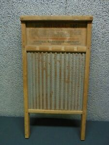 Vintage National Washboard Co No 1801 The Brass King Washboard Advertising