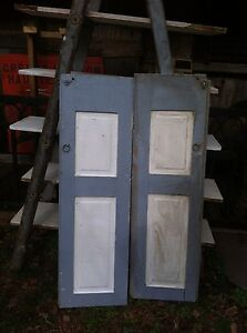 Vtg One Pair 1800 S Old Wooden Window Shutters Architectural Salvage Screen 55