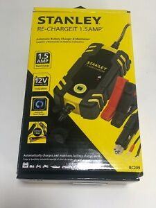 Stanley 1 5 Amp Battery Charger Maintainer For 12v Battery Vehicles Pn Bc209