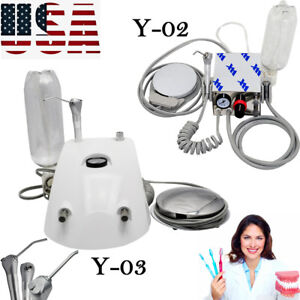 Portable Dental Air Turbine Unit Work Compressor Low High Handpiece Kit Device