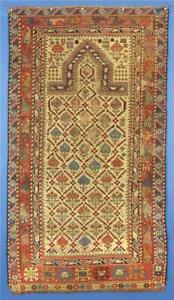 Antique Caucasian Marasali Prayer Rug C 1875 1900 Used