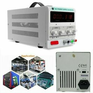 10a 30v Dc Power Supply Adjustable Dual Digital Variable Precision Us Plug Bp