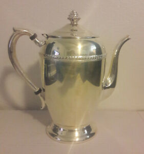 Fb Rogers Silver On Copper Teapot 1883 Crown Mark No 1200 Silver Plated