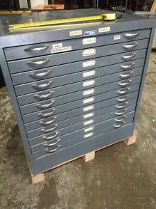 Foster12 Drawer Blueprint Plans Map Art Architect Flat Filing Cabinet 34x30x36