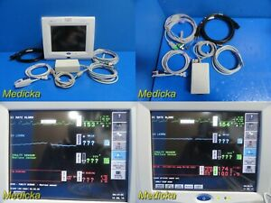 Spacelabs Ultraview Sl 91369 Touch Screen Patient Monitor W Leads Sensor 18528